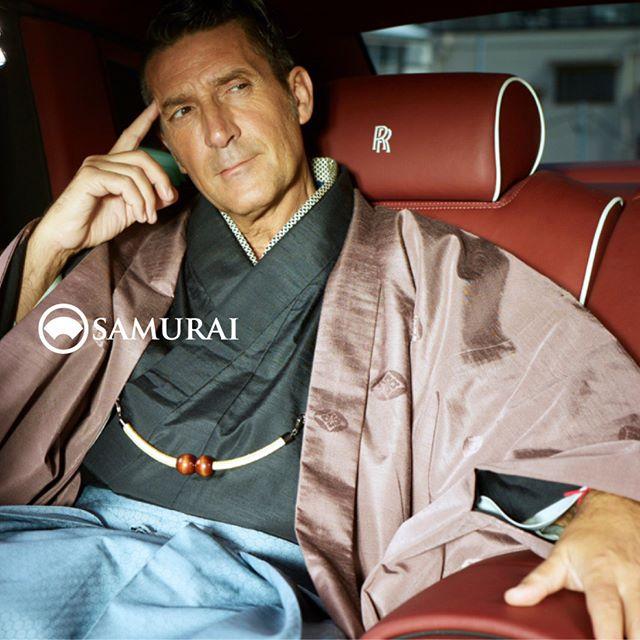 #パンツェッタジローラモ #panzettagirolamo #samurai #kimono#mensfashion #japan #ginza #kyoto #着物 #帯 #和服 #きもの #男着物 #羽織