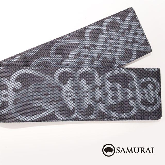 .黒地にアラベスク柄が華やかな西陣織の角帯です。角帯「西陣帯 黒地アラベスク」各¥75,000(税別)#samurai #角帯 #西陣織 #男着物 #kimono #obi #きもの #着物 #浴衣 #銀座