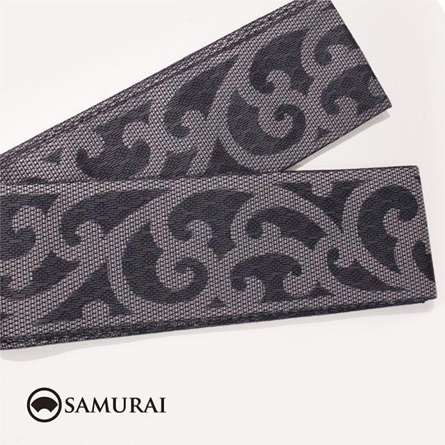.黒地に大きな唐草が男っぽい西陣織の角帯です。角帯「西陣帯 唐草」各¥75,000(税別)#samurai #角帯 #西陣織 #男着物 #kimono #obi #きもの #着物 #浴衣 #銀座