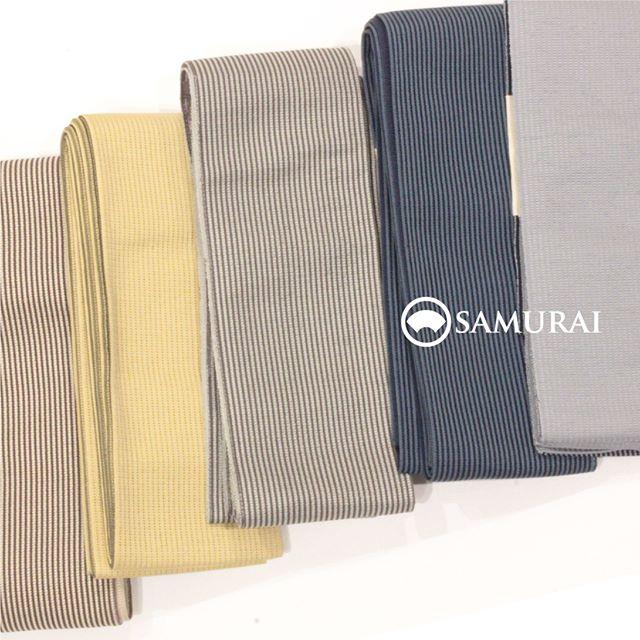 .開催中のSAMURAI祭会場からオススメの帯を。絹絽の夏帯 ¥35,000(税別)です。.絹絽の夏帯は、夏のお茶席や正装としても締めていただける格の高い帯になります。シンプルで優しいトーンの縞は、合わせるきものを選ばず、どんなコーディネートにも合わせやすいですよ。正装から洒落着まで1本で幅広く使えるお買い得な帯です。.SAMURAIならではの洒落感の利いた大島紬と、男の角帯を全国から選りすぐり100本!今週の日曜日まで販売しております。.「SAMURAI祭 大島編」6月24日(日)まで開催時間:11:00〜18:00会場:COCONGINZA(SAMURAI銀座本店のある銀座クイントビル2階).開催のこりわずかな日数になってまいりましたが、ぜひこの機会にSAMURAI祭へお越しください。.#kimono #苧麻 #夏帯 #着物 #男着物 #samurai #大島 #大島紬 #紬 #きもの #米沢織 #夏きもの #ゆかた #角帯 #博多織 #博多帯 #西陣帯 #十日町帯 #米沢帯 #西陣織 #十日町紬