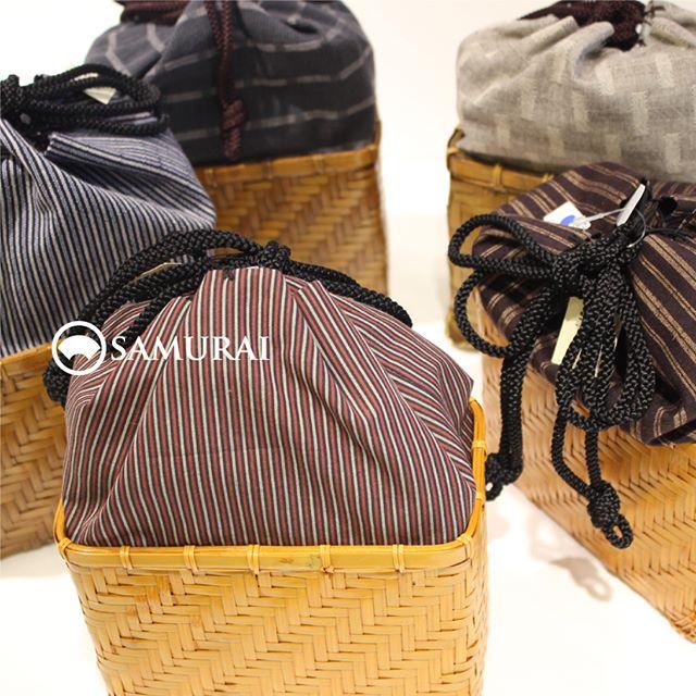 .風魔(夏物)シリーズより「竹かご巾着」¥5,000〜(税別).#samurai #男着物 #和小物 #男物 #浴衣 #夏小物 #籠巾着 #souvenir #ギフト #誕生日プレゼント #kimono #ginza #歌舞伎座 #巾着