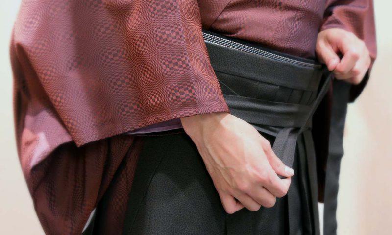 きもの着付け教室「袴を付ける」